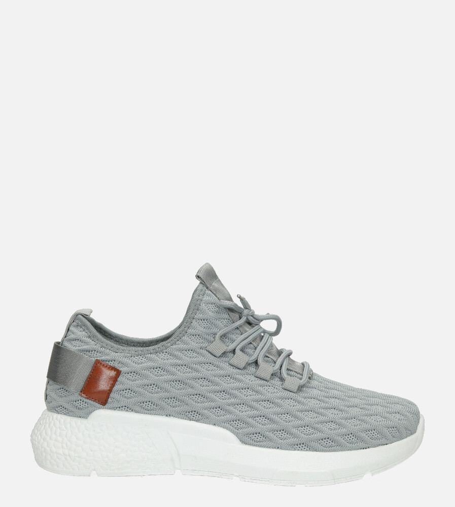 Szare buty sportowe sznurowane Casu YZ05-2 szary