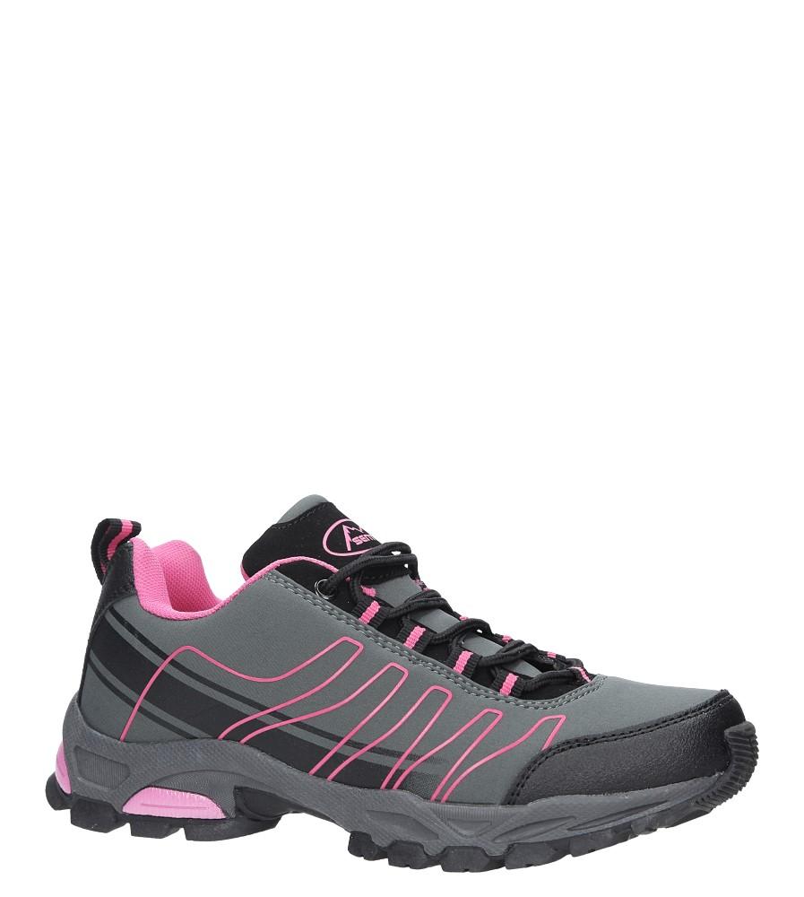 Szare buty sportowe sznurowane softshell Casu B1531-4 szary