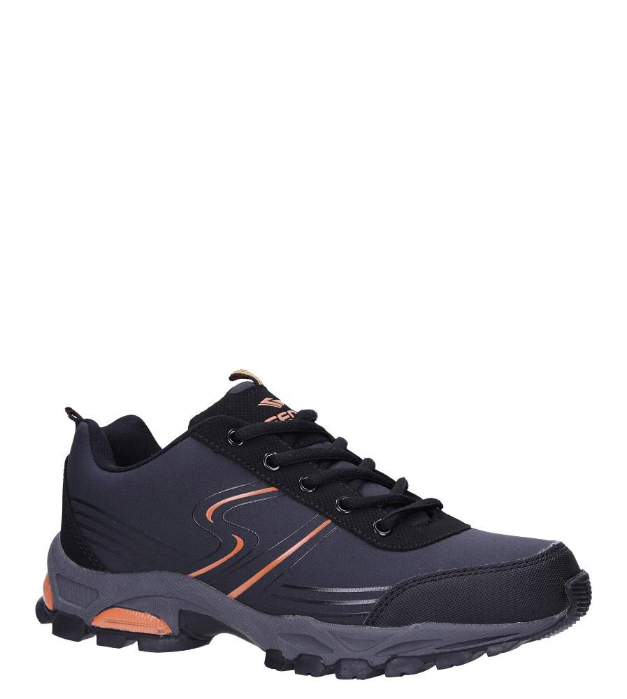 Szare buty sportowe sznurowane softshell Casu B1808-3 ciemny szary