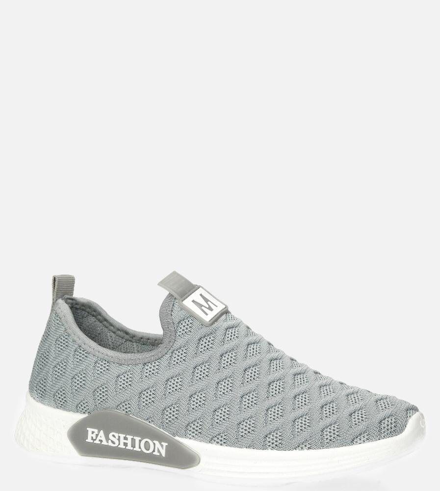 Szare buty sportowe wsuwane Casu 20P5/M szary