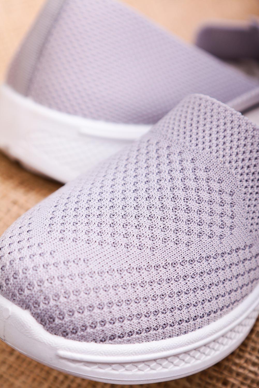Szare buty sportowe wsuwane slip on Casu 11004-3
