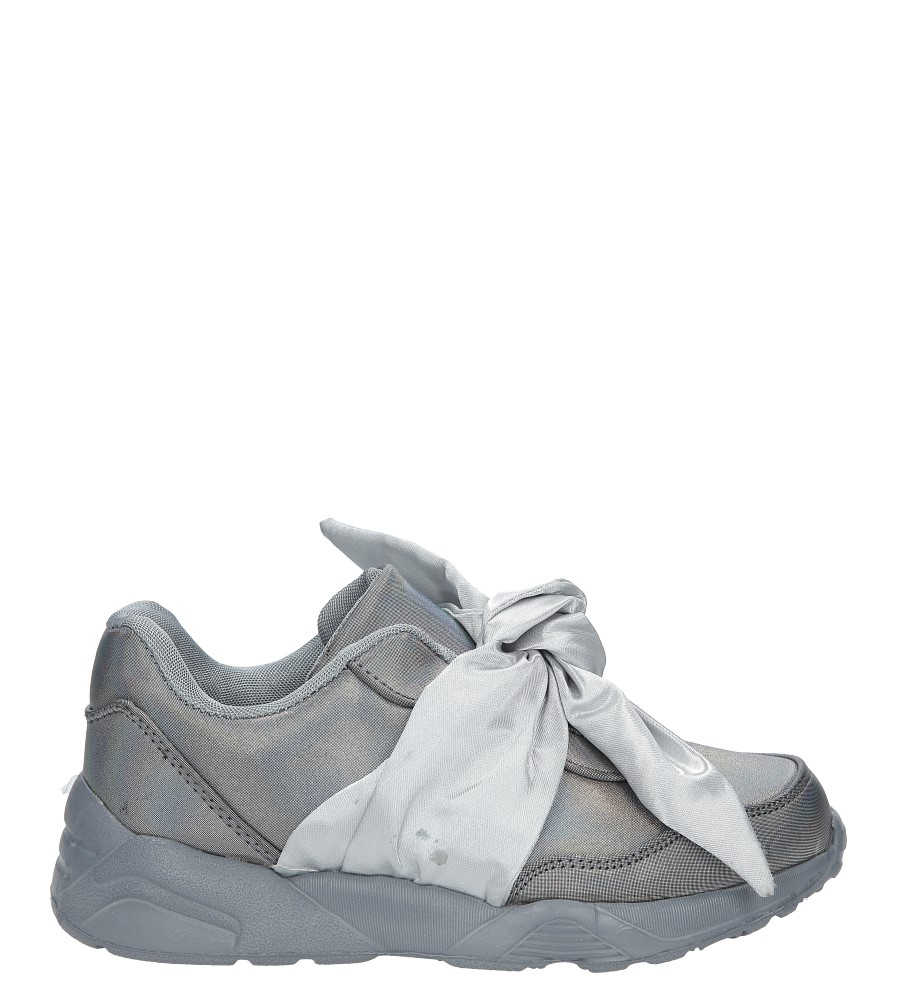 Szare buty sportowe z kokardą Casu C12033-2