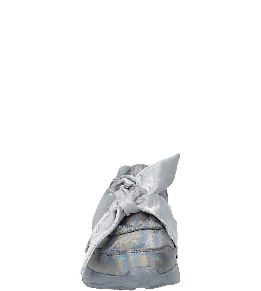 Szare buty sportowe z kokardą Casu C12033-3 sezon Wczesna wiosna/Jesień
