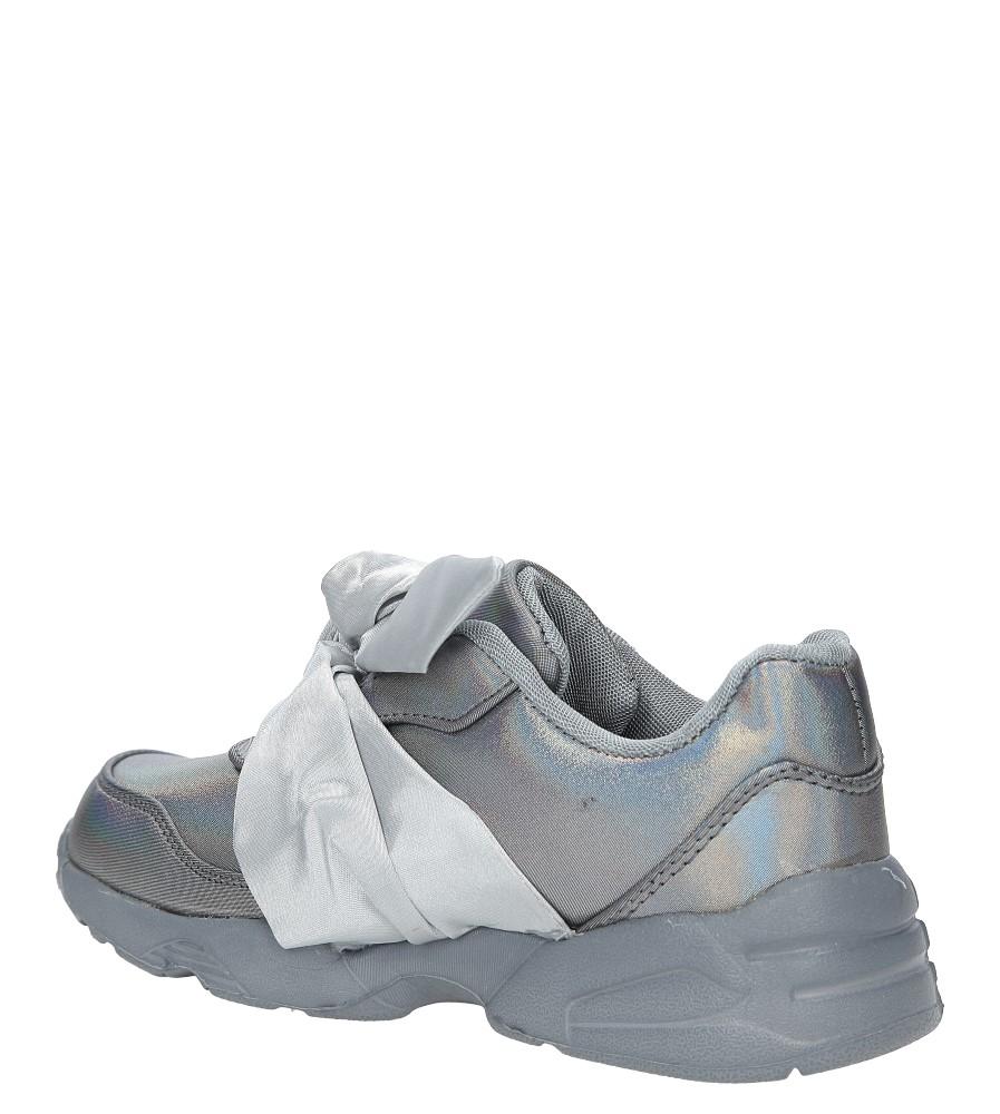 Szare buty sportowe z kokardą Casu C12033-3 kolor szary