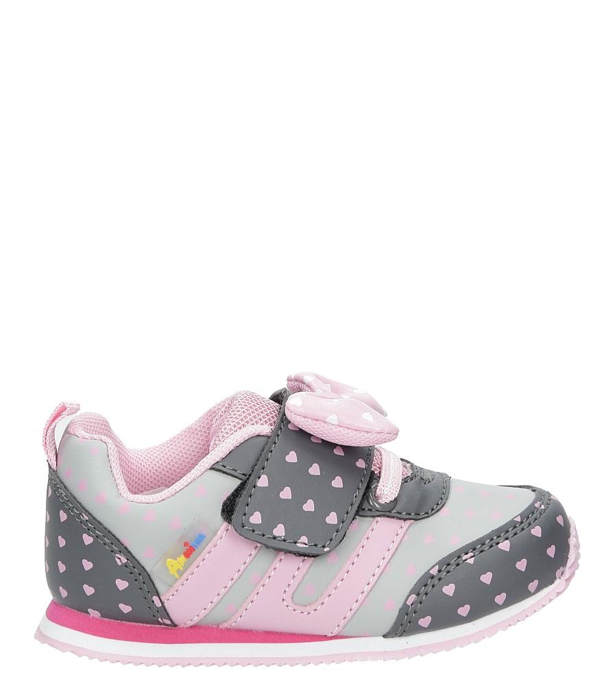 Szare buty sportowe z kokardką na rzepy  American CA41-17005A