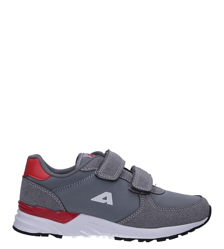 Szare buty sportowe ze skórzaną wkładką na rzepy American 03/19