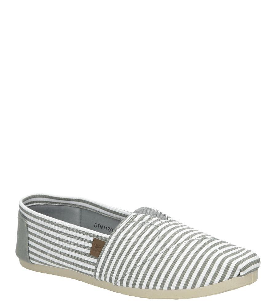 Szare buty tomsy w paski Mckey DTN117/16GR
