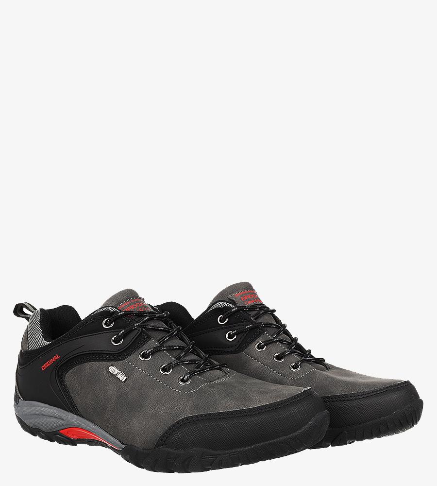 Szare buty trekkingowe Casu MXC7567 ciemny szary