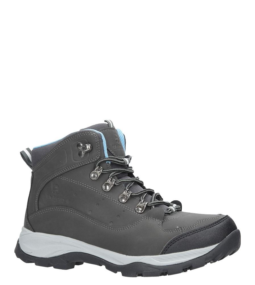 Szare buty trekkingowe sznurowane Casu 8TR85-0549 producent Casu
