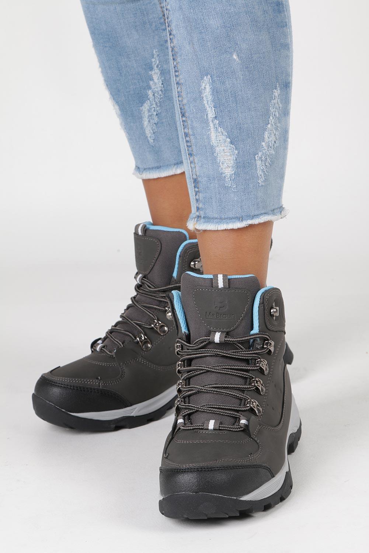 Szare buty trekkingowe sznurowane Casu 8TR85-0549 wysokosc_obcasa 2.5 cm