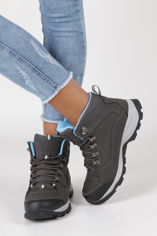 Szare buty trekkingowe sznurowane Casu 8TR85-0549 wysokosc_platformy 2 cm