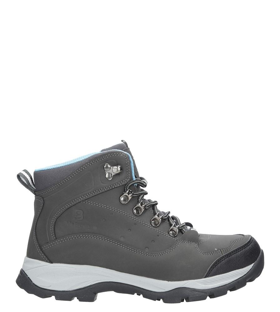 Szare buty trekkingowe sznurowane Casu 8TR85-0549 wys_calkowita_buta 17 cm