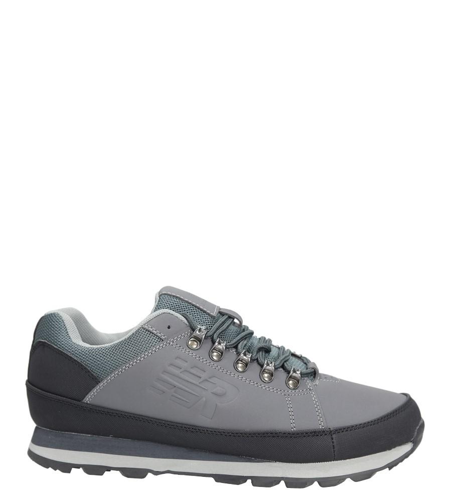 Szare buty trekkingowe sznurowane Casu 9ACH-17000