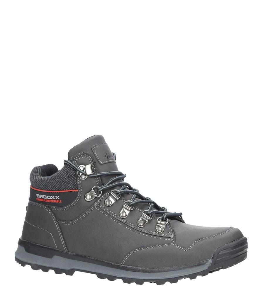 Szare buty trekkingowe sznurowane Casu MXC7584-W producent Casu