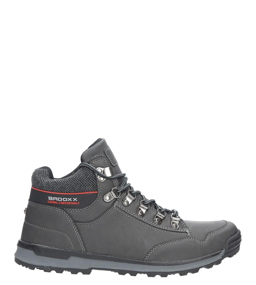 Szare buty trekkingowe sznurowane Casu MXC7584-W