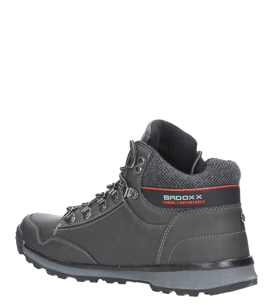 Szare buty trekkingowe sznurowane Casu MXC7584-W sezon Zima