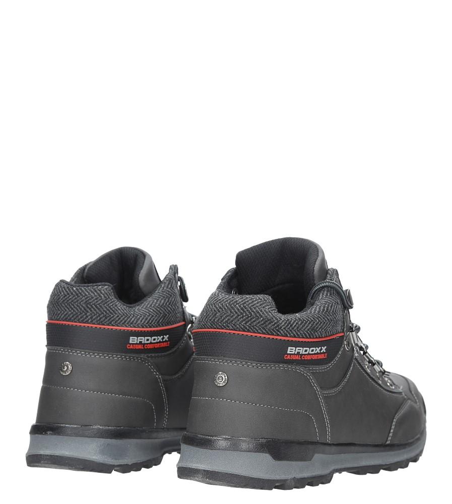 Szare buty trekkingowe sznurowane Casu MXC7584-W kolor ciemny szary