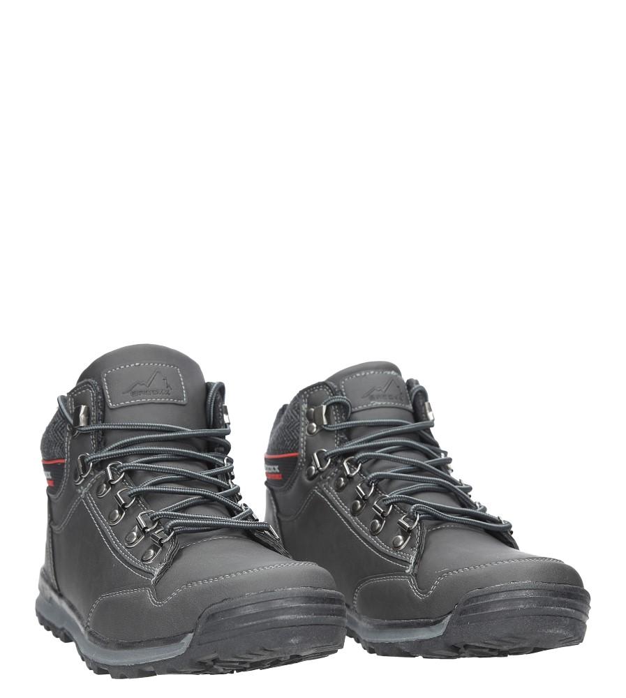 Szare buty trekkingowe sznurowane Casu MXC7584-W wysokosc_obcasa 3 cm