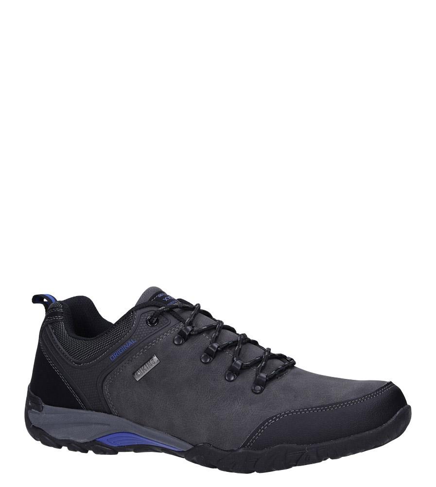 Szare buty trekkingowe sznurowane Casu MXC7702
