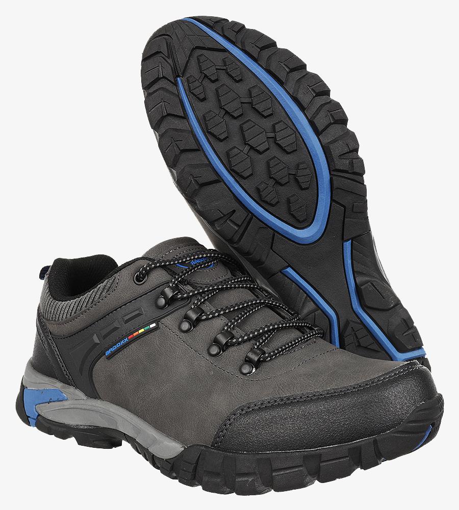 Szare buty trekkingowe sznurowane Casu MXC7707