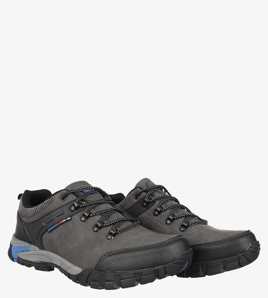 Szare buty trekkingowe sznurowane Casu MXC7707 sezon Całoroczny