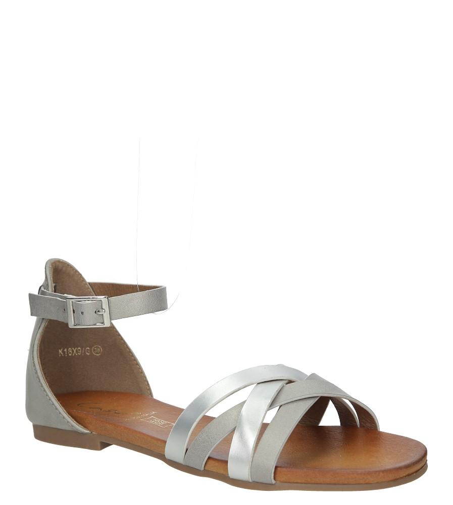 Szare eleganckie sandały z zakrytą piętą Casu K18X9/G producent Casu