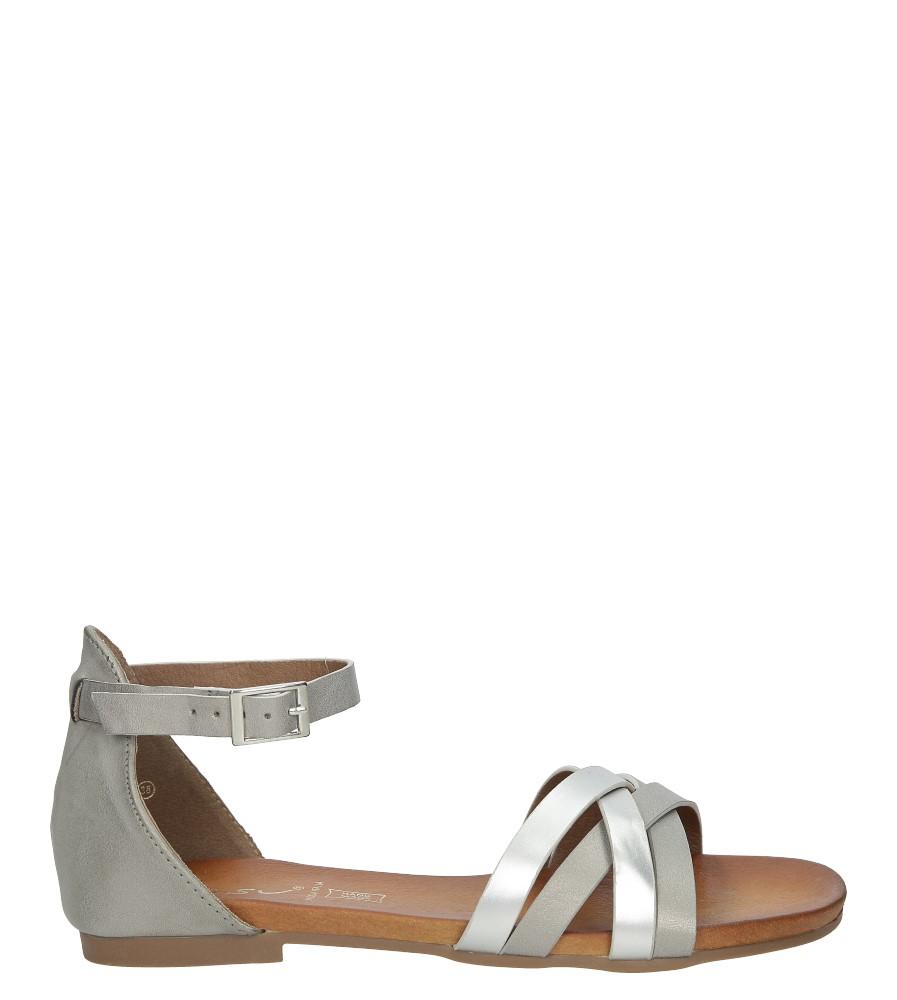 Szare eleganckie sandały z zakrytą piętą Casu K18X9/G sezon Lato
