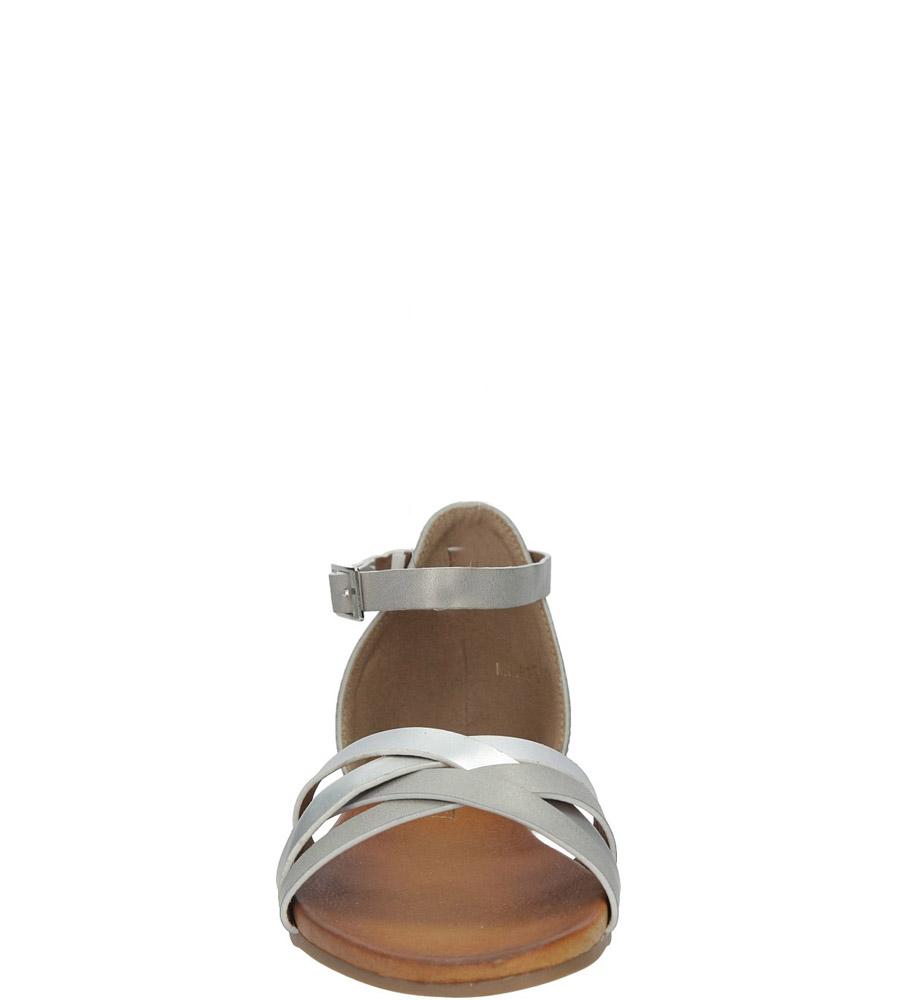 Szare eleganckie sandały z zakrytą piętą Casu K18X9/G kolor szary