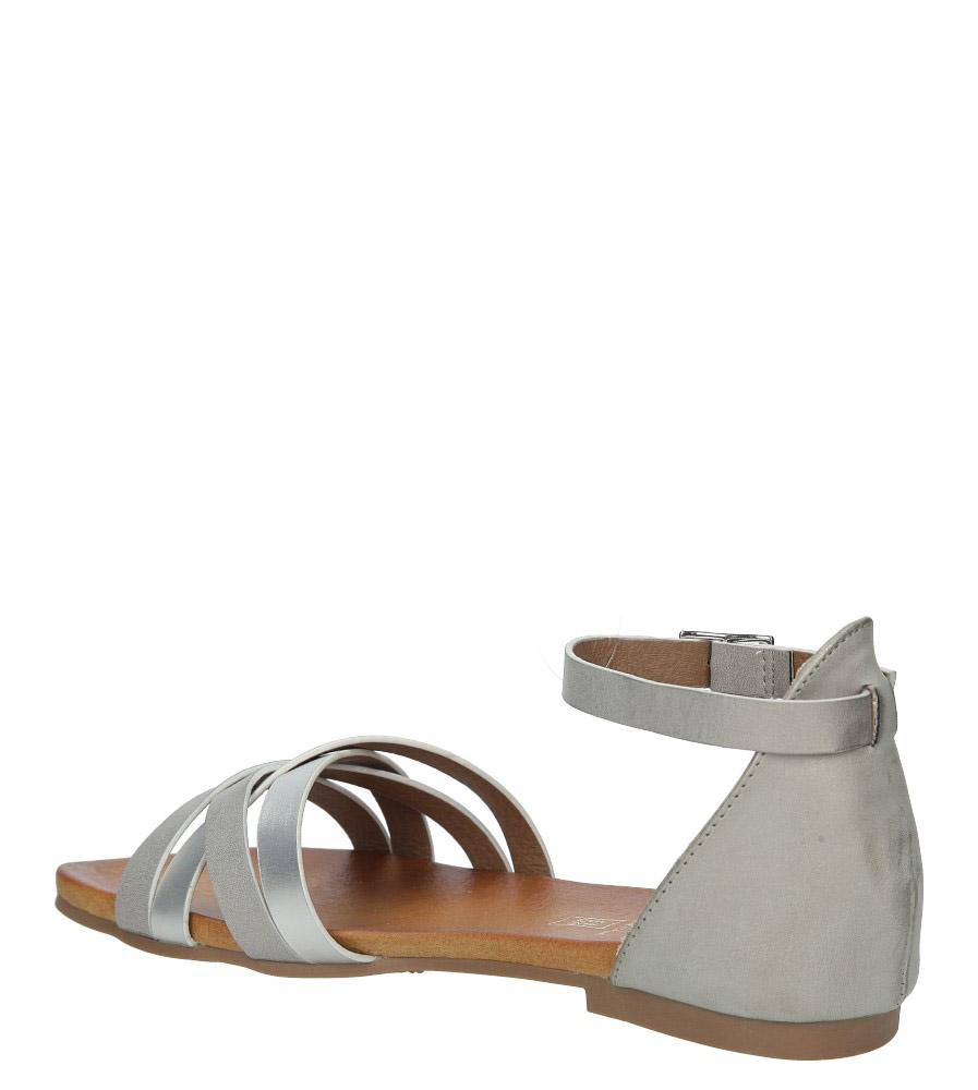 Szare eleganckie sandały z zakrytą piętą Casu K18X9/G wysokosc_obcasa 3.5 cm