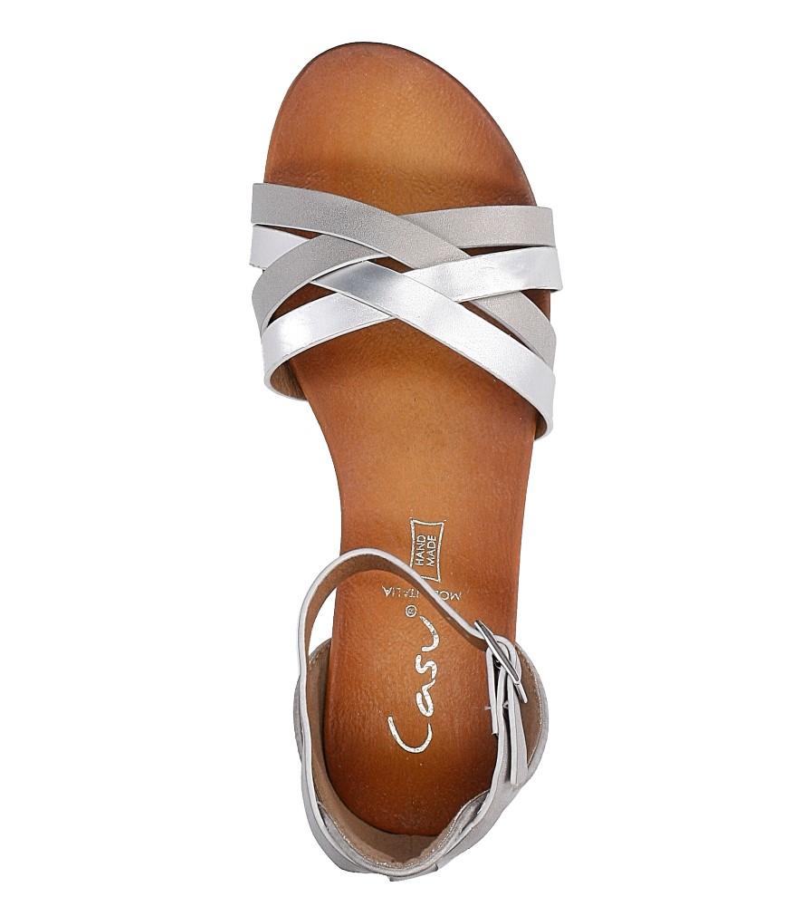 Szare eleganckie sandały z zakrytą piętą Casu K18X9/G wysokosc_platformy 2 cm