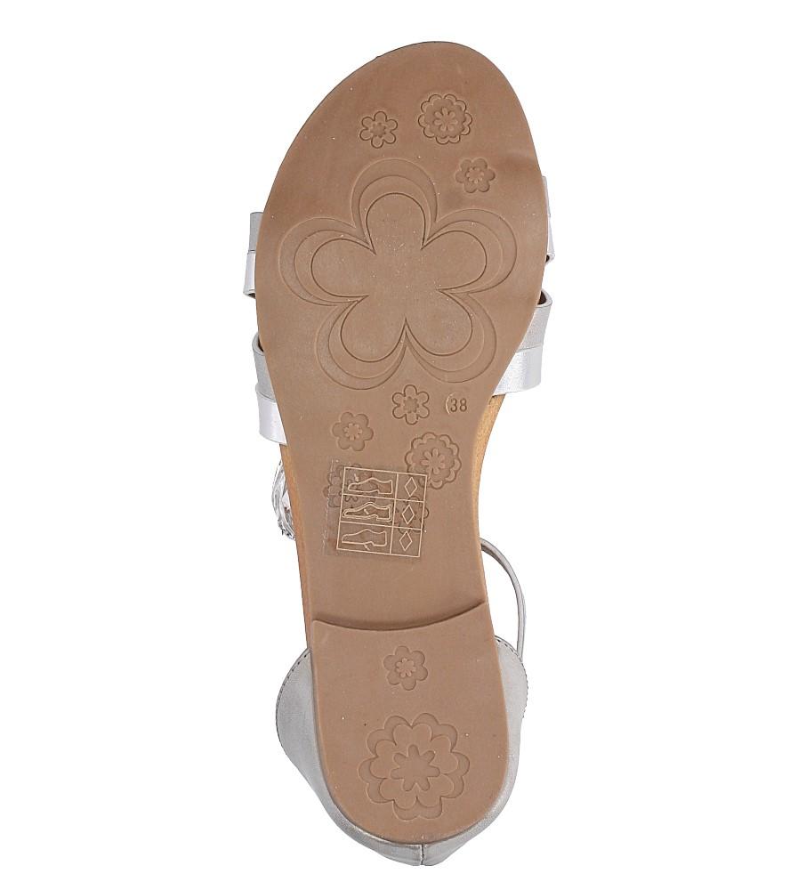 Szare eleganckie sandały z zakrytą piętą Casu K18X9/G wys_calkowita_buta 10.5 cm