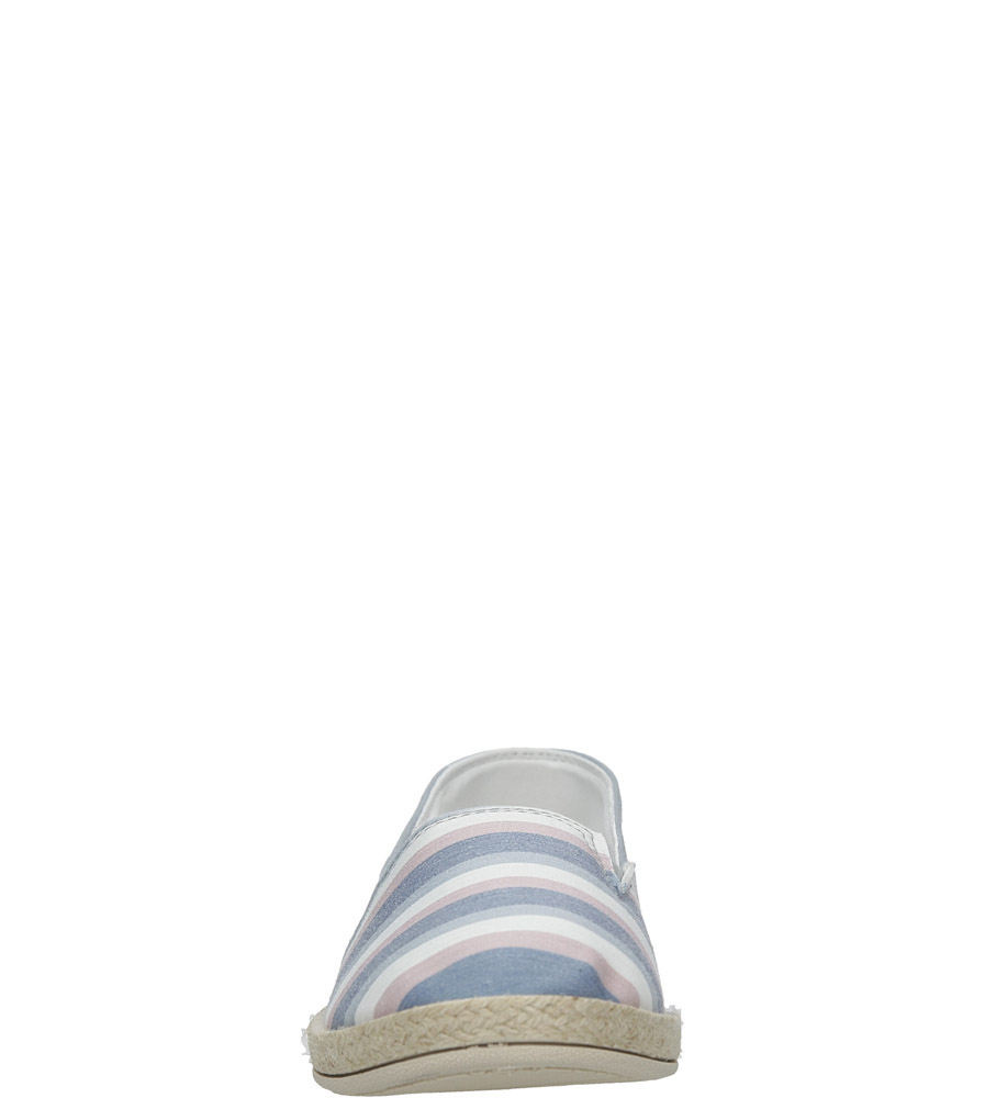 Szare espadryle slip on w paski Casu B825-5 style Kratka/Paski