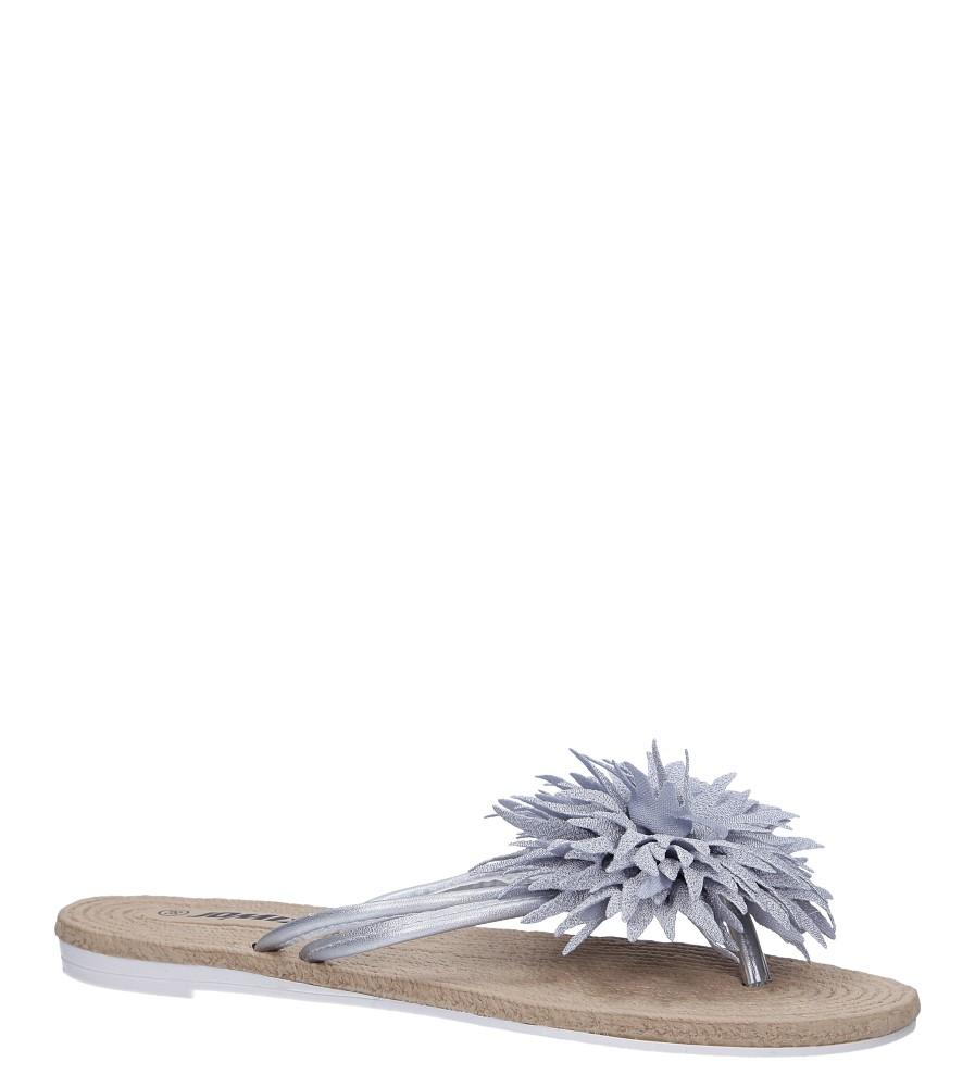 Szare klapki japonki z kwiatkiem Casu SD0099