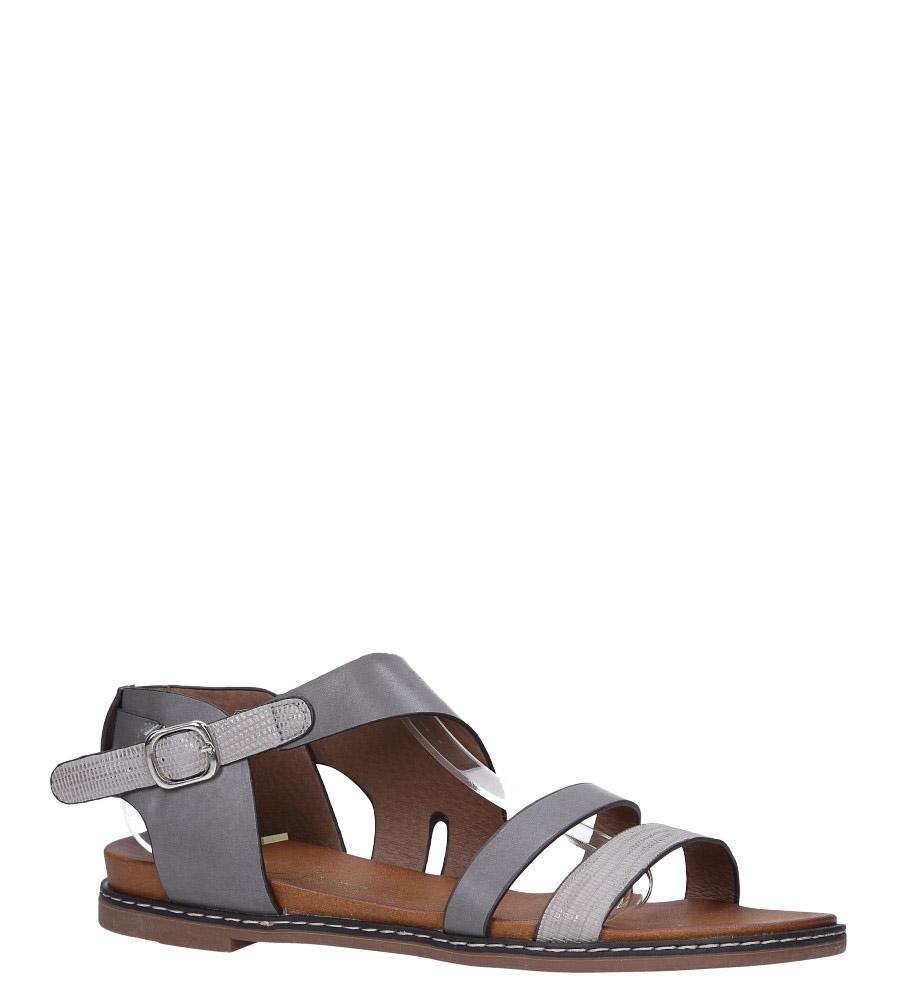 Szare lekkie sandały płaskie Casu K19X15/G szary