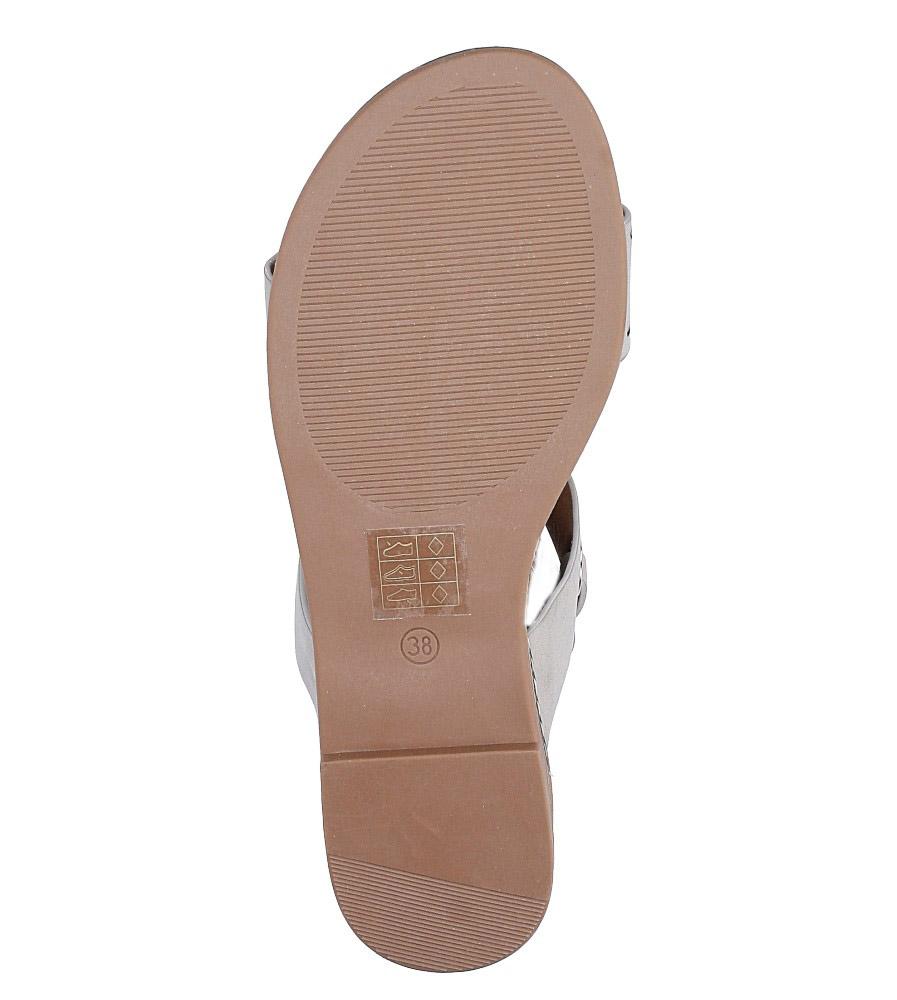 Szare modne sandały z ozdobnymi metalowymi kółkami Casu K18X2/G wys_calkowita_buta 10.5 cm