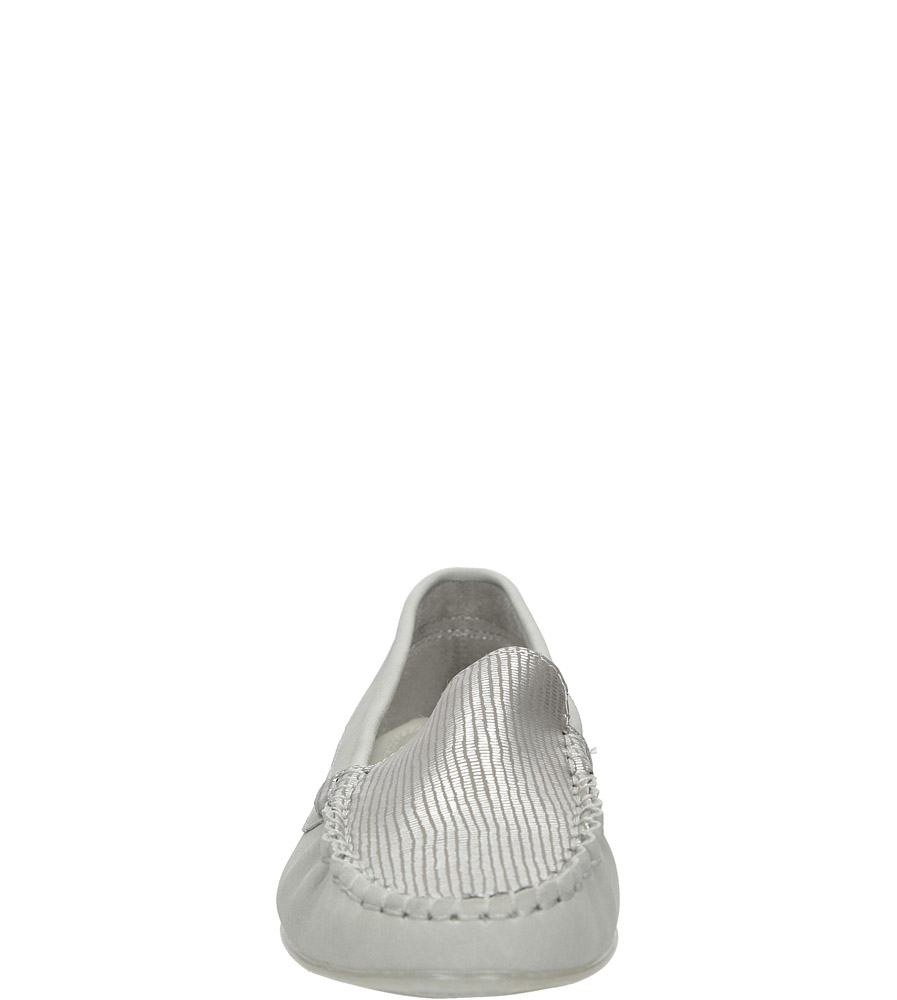 Szare mokasyny Sergio Leone MK721-03N kolor srebrny, szary