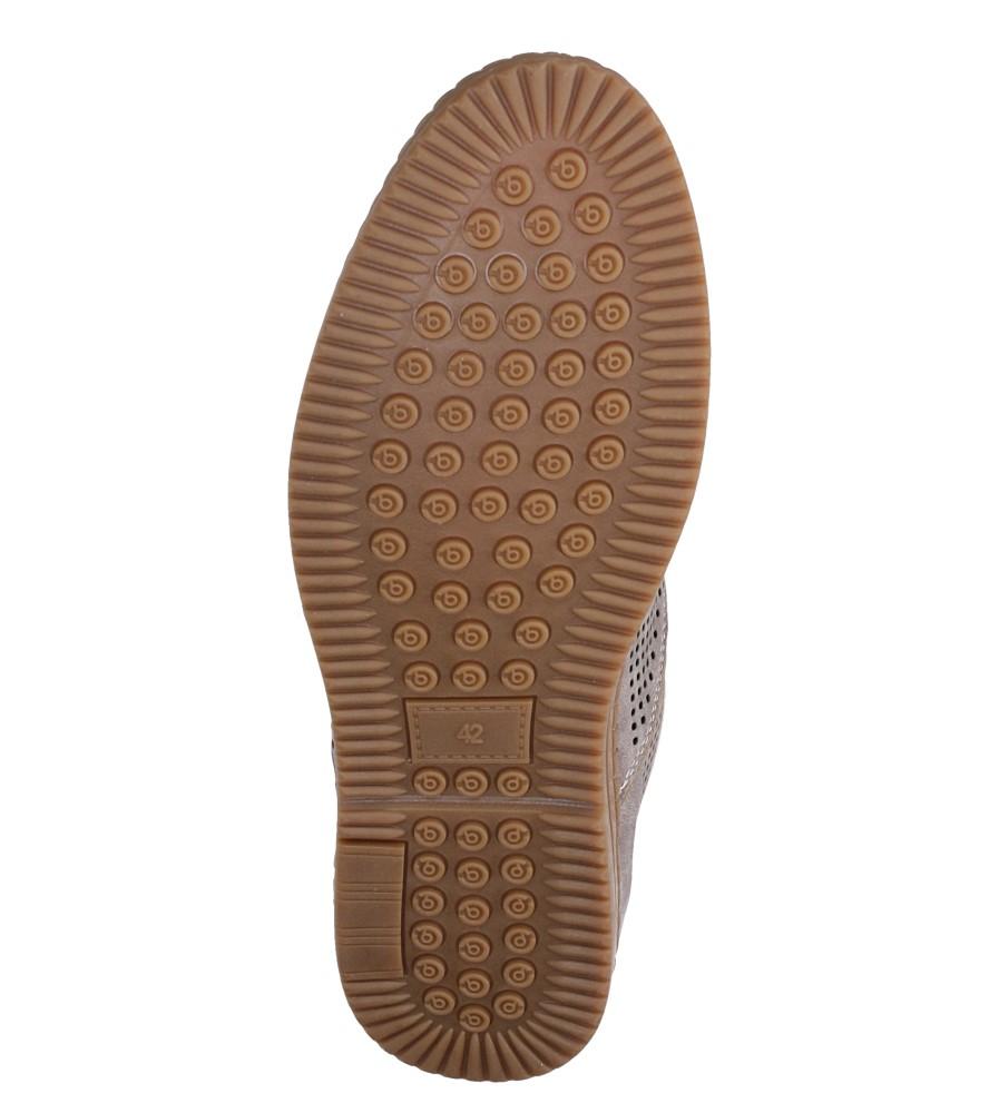 Szare półbuty sznurowane Casu LB8503-2 wys_calkowita_buta 9.5 cm