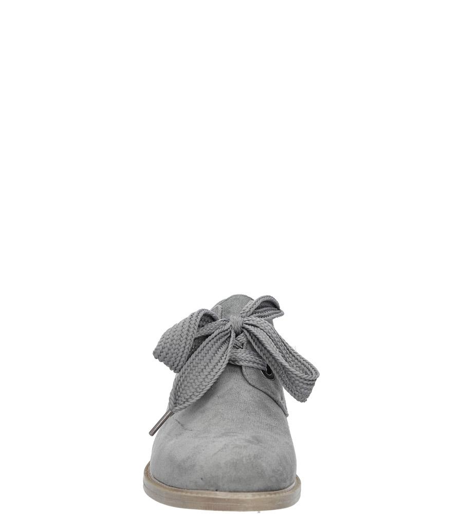 Szare półbuty sznurowane Sergio Leone PB303-02M kolor ciemny szary