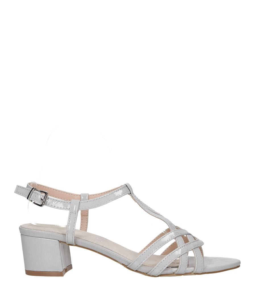 Szare sandały lakierowane na niskim obcasie ze skórzaną wkładką Casu RT19X2/G wysokosc_platformy 0.5 cm