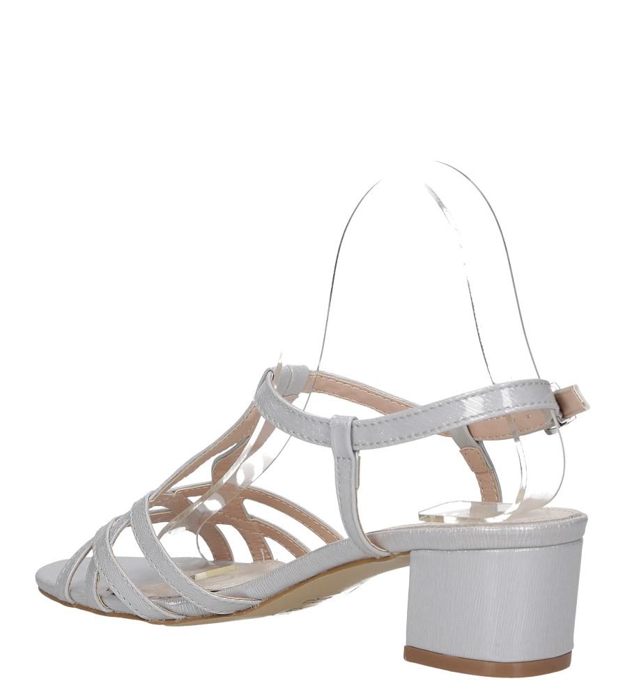 Szare sandały lakierowane na niskim obcasie ze skórzaną wkładką Casu RT19X2/G wys_calkowita_buta 12 cm