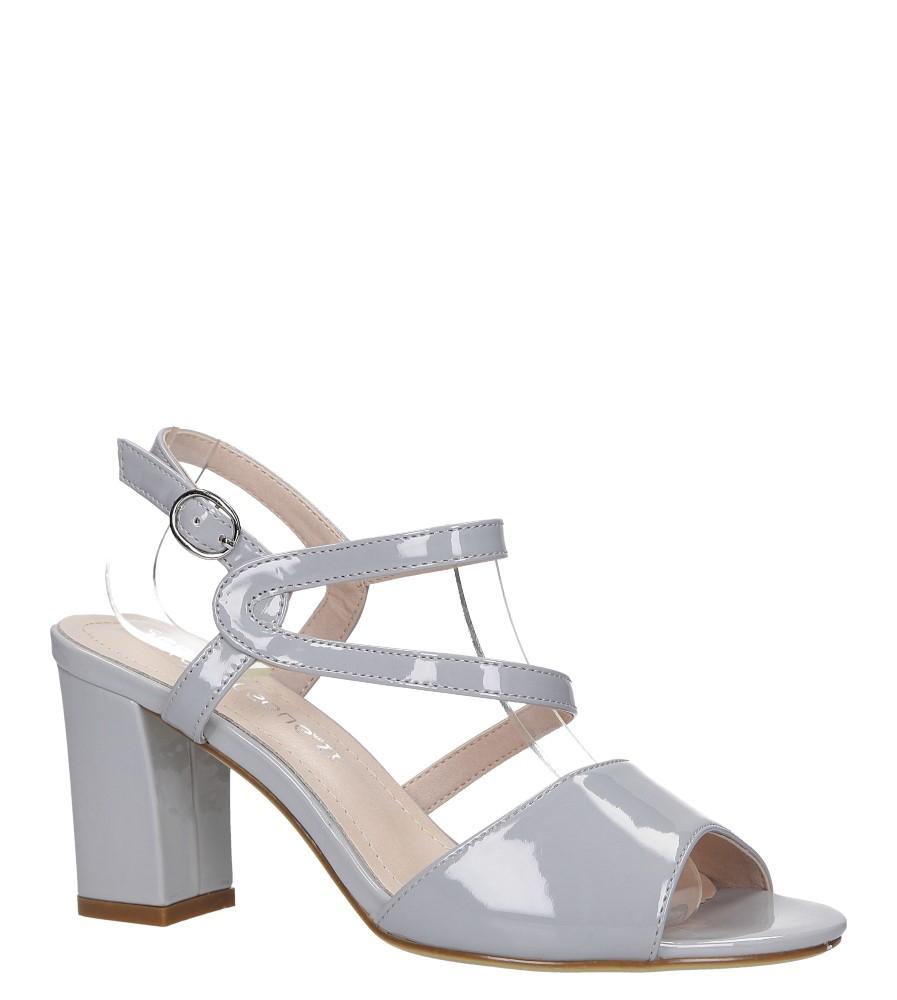Szare sandały lakierowane na słupku Sergio Leone SK844 model SK844
