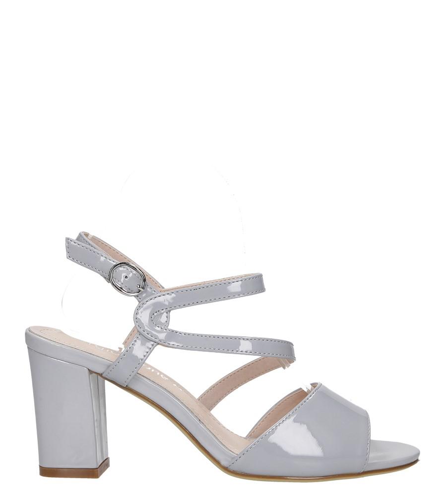 Szare sandały lakierowane na słupku Sergio Leone SK844 wysokosc_platformy 0.5 cm