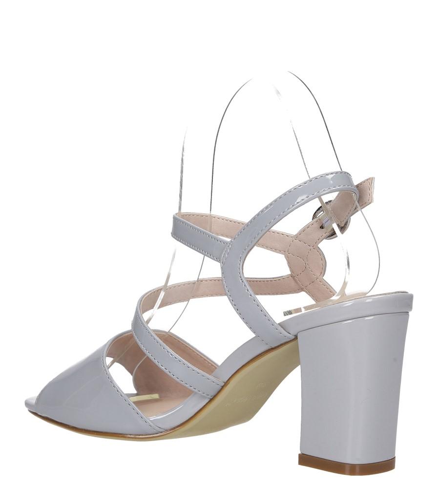 Szare sandały lakierowane na słupku Sergio Leone SK844 wys_calkowita_buta 13 cm