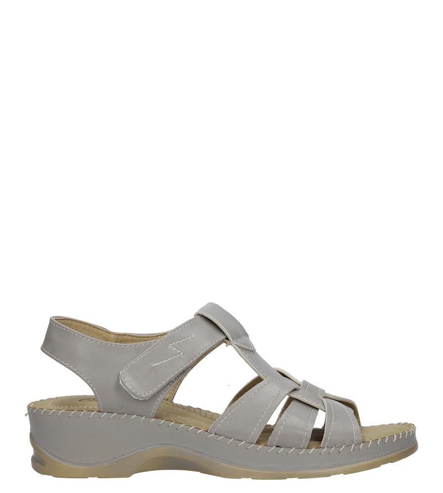 Szare sandały na koturnie Casu 1213-5