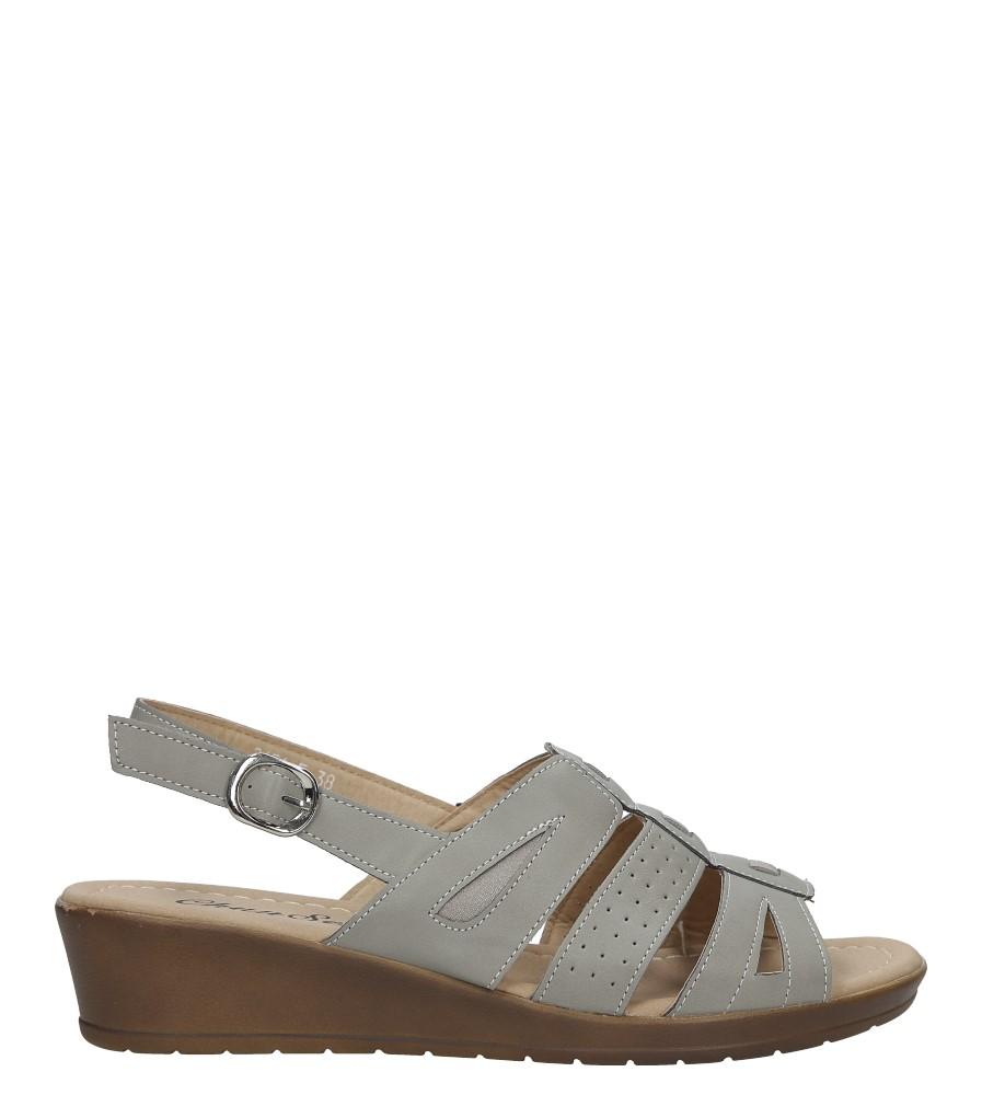 Szare sandały na koturnie Casu 2651-5