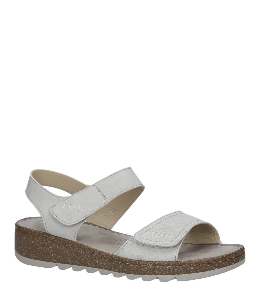 Szare sandały na koturnie S.Barski 23-X1
