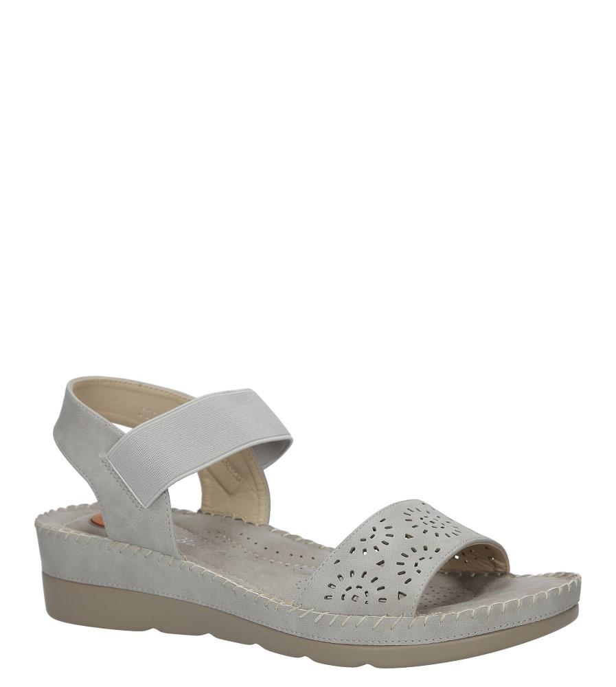 Szare sandały na koturnie S.Barski 330-6