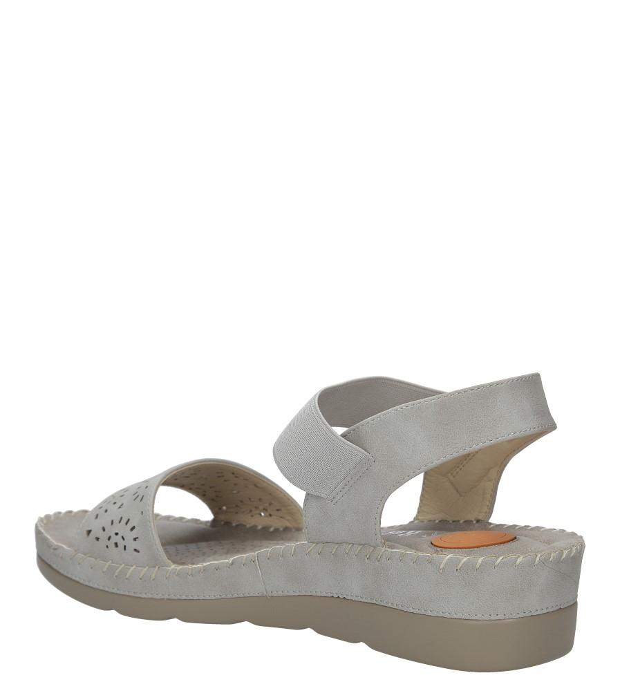 48d435e68c5b7 ... Szare sandały na koturnie S.Barski 330-6 wysokosc_obcasa 4 cm ...