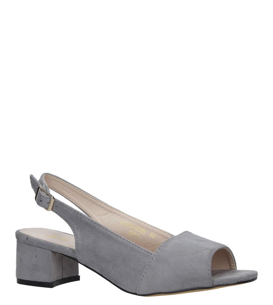 Szare sandały na niskim obcasie Jezzi 8SD35-0385