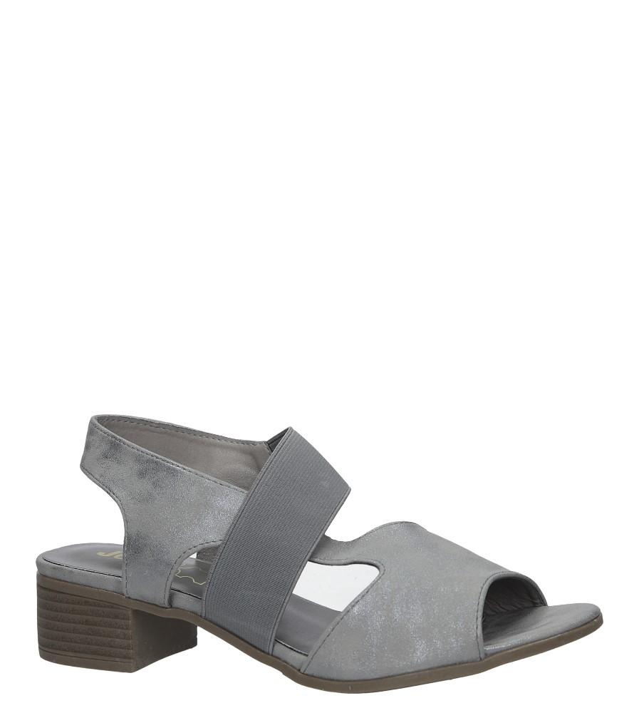 Szare sandały na niskim obcasie Jezzi MR1730-5 szary